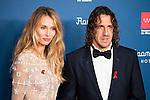 Vanesa Lorenzo and Carles Puyol attends to the photocall of the Gala Sida at Palacio de Cibeles in Madrid. November 21, 2016. (ALTERPHOTOS/Borja B.Hojas)