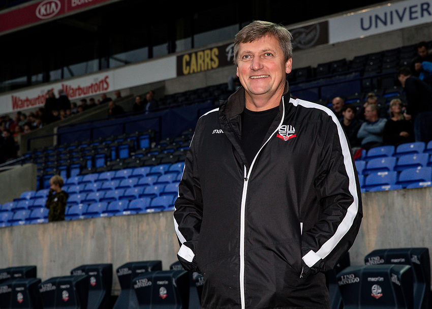 Bolton Wanderers' Academy Director Jimmy Phillips <br /> <br /> Photographer Andrew Kearns/CameraSport<br /> <br /> EFL Leasing.com Trophy - Northern Section - Group F - Bolton Wanderers v Bradford City -  Tuesday 3rd September 2019 - University of Bolton Stadium - Bolton<br />  <br /> World Copyright © 2018 CameraSport. All rights reserved. 43 Linden Ave. Countesthorpe. Leicester. England. LE8 5PG - Tel: +44 (0) 116 277 4147 - admin@camerasport.com - www.camerasport.com
