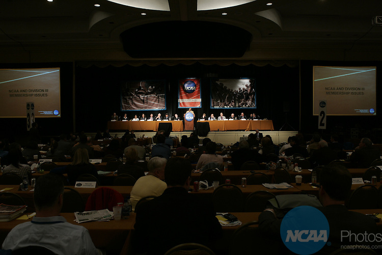 14 January 2008: The Division III Issues Forum at the 2008 NCAA Convention at the Gaylord Opryland Resort Hotel and Convention Center in Nashville, TN..Trevor Brown, Jr./NCAA Photos.