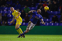 AFC Wimbledon's Barry Fuller (L) Oldham Athletic's Craig Davies (R) in action during the Sky Bet League 1 match between Oldham Athletic and AFC Wimbledon at Boundary Park, Oldham, England on 21 November 2017. Photo by Juel Miah/PRiME Media Images