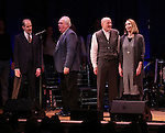 William Youmans, Michael Mulheren, Stephen Lee anderson and Dee Hoty on stage during 'Bright Star' In Concert at Town Hall on December 12, 2016 in New York City.