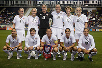 The USWNT lines up before an international friendly at PPL Park in Chester, PA.  The U.S. tied China, 1-1.