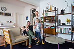 Home & Life Mag , My place with Tim and Pippy Mount from we Love Concrete at their home in St Peters and their show room in town, with their two children Ace and Olive.     Photo: NIck Clayton.