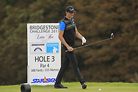 Sebastian Heisele (GER) on the 3rd tee during Round 1 of the Bridgestone Challenge 2017 at the Luton Hoo Hotel Golf &amp; Spa, Luton, Bedfordshire, England. 07/09/2017<br /> Picture: Golffile | Thos Caffrey<br /> <br /> <br /> All photo usage must carry mandatory copyright credit     (&copy; Golffile | Thos Caffrey)