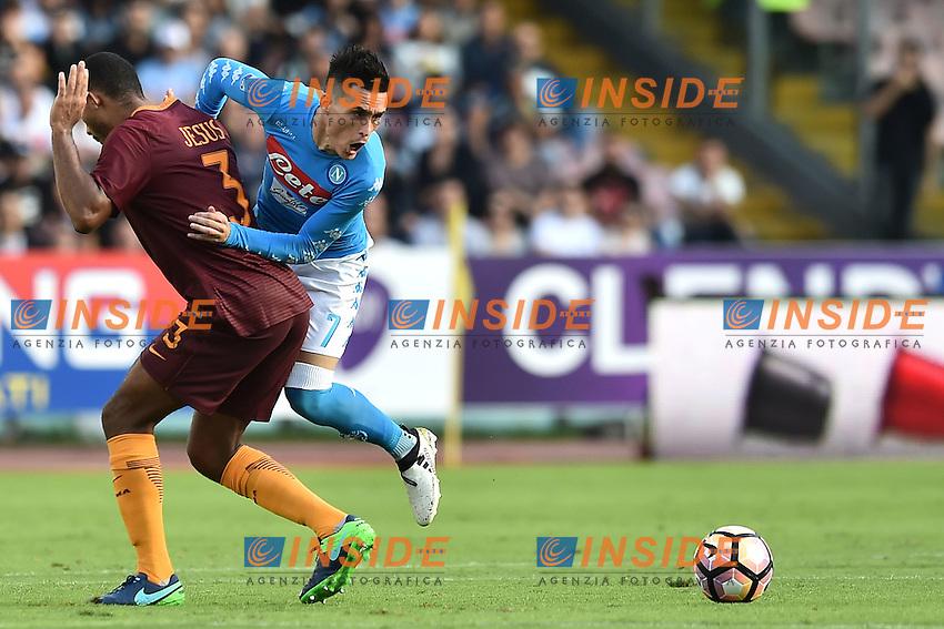 Juan Jesus Roma, Jose Callejon Napoli <br /> Napoli 15-10-2016  Stadio San Paolo <br /> Football Calcio Campionato Serie A Napoli - AS Roma <br /> Foto Andrea Staccioli / Insidefoto