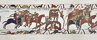 Bayeux Tapestry Scene 18 - Normans attack Dol and make the Duke of Brittany flee