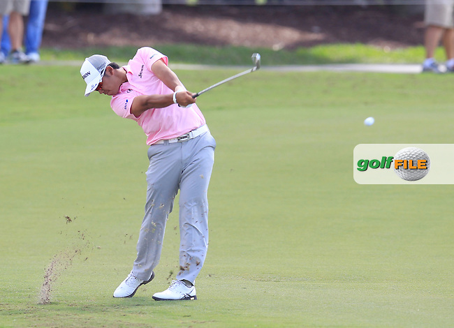 Hideki Matsuyama (JAP) during the 1st round at the WGC Cadillac Championship, Blue Monster, Trump National Doral, Doral, Florida, USA<br /> Picture: Fran Caffrey / Golffile