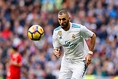 9th December 2017, Santiago Bernabeu, Madrid, Spain; La Liga football, Real Madrid versus Sevilla; Karim Benzema of Real Madrid in action