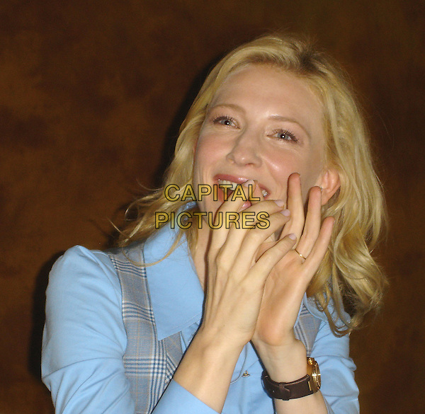 "CATE BLANCHETT .Photocall for ""Babel"" .September 2006.Ref: AW.headshot portrait hands.www.capitalpictures.com.sales@capitalpictures.com.©Anita Weber/Capital Pictures."