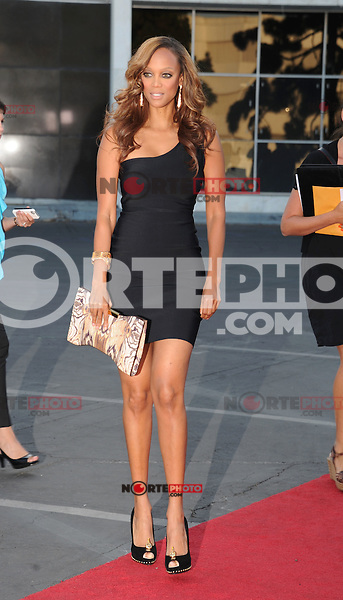 BEVERLY HILLS, CA - JULY 29: Tyra Banks arrives at the CBS, Showtime and The CW 2012 TCA summer tour party at 9900 Wilshire Blvd on July 29, 2012 in Beverly Hills, California. /NortePhoto.com<br /> <br />  **CREDITO*OBLIGATORIO** *No*Venta*A*Terceros*<br /> *No*Sale*So*third* ***No*Se*Permite*Hacer Archivo***No*Sale*So*third*