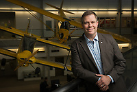UAA Aviation Management Alum Jeremy Worrall, photographed at the Aviation Technology Complex at Merrill Field during a visit to Anchorage. Worrall is the Statewide Airport Operations Superintendent for the Alaska Department of Transportation.