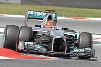 12.05.2012. Circuit de Catalunya, Montmeol, Spain, One the 3rd Practice Session. Picture show  Michael Schumacher (German driver of Mercedes GP)