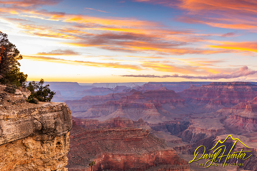 Brilliant sunset over the Grand Canyon.