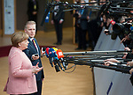 Brussels, Belgium -- March 22, 2018 -- European Council / Summit, meeting of Heads of State / Government at the Europa building - seat of the European Council and Council of the European Union; here, Angela MERKEL, Federal Chancellor of Germany -- Photo: © HorstWagner.eu