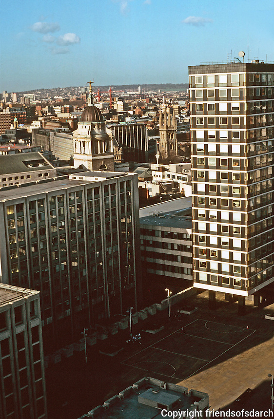 London:  11.  Panoramic view from St. Paul's--N.W. to Paternoster Square.  Photo '90.