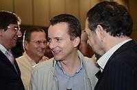 ATENÇÃO EDITOR: FOTO EMBARGADA PARA VEÍCULOS INTERNACIONAIS.  SAO PAULO, 11 DE SETEMBRO DE 2012 - ELEICOES 2012 RUSSOMANNO - Candidato Celso Russomano durante almoço com empresarios do ramo de Turismo e eventos, no expo Center Norte, regiao norte da capital na tarde desta terca feira. FOTO: ALEXANDRE MOREIRA - BRAZIL PHOTO PRESS