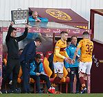 30.03.2019 Motherwell v St Johnstone: Chris Cadden on for Jake Hastie