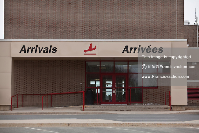 Fredericton International Airport (YFC) is pictured in Fredericton, New Brunswick Wednesday April 4, 2012. Part of the National Airports System, the airport is owned by Transport Canada and operated by the Greater Fredericton Airport Authority.