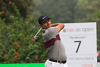 Julian Suri (USA) on the 7th tee during Round 4 of the UBS Hong Kong Open, at Hong Kong golf club, Fanling, Hong Kong. 26/11/2017<br /> Picture: Golffile | Thos Caffrey<br /> <br /> <br /> All photo usage must carry mandatory copyright credit     (&copy; Golffile | Thos Caffrey)
