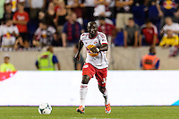 Ibrahim Sekagya (32) of the New York Red Bulls. The New York Red Bulls and the Philadelphia Union played to a 0-0 tie during a Major League Soccer (MLS) match at Red Bull Arena in Harrison, NJ, on August 17, 2013.