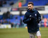 Ipswich Town's Gwion Edwards during the pre-match warm-up <br /> <br /> Photographer Hannah Fountain/CameraSport<br /> <br /> The EFL Sky Bet Championship - Ipswich Town v Stoke City - Saturday 16th February 2019 - Portman Road - Ipswich<br /> <br /> World Copyright © 2019 CameraSport. All rights reserved. 43 Linden Ave. Countesthorpe. Leicester. England. LE8 5PG - Tel: +44 (0) 116 277 4147 - admin@camerasport.com - www.camerasport.com