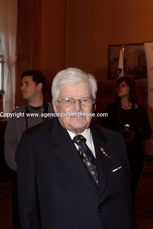 Montreal (Qc) CANADA -October 9 2007 -<br /> Paul Guerin-Lajoie ,<br /> Gala des Grands Montrealais a l'Hotel de Ville de Montreal<br /> <br /> <br /> <br /> <br /> photo : Pierre Roussel /  Images Distribution