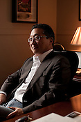 August 27, 2012. Chapel Hill, North Carolina.. Emil Kang is the Executive Director of Carolina Performing Arts.