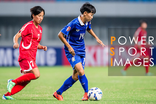 DPR Korea vs Thailand during the AFC U-19 Women's Championship China group A match at the Jiangning Sports Centre Stadium on 19 August 2015 in Nanjing, China. Photo by Aitor Alcalde / Power Sport Images