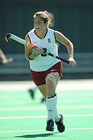 Stanford, CA - SEPTEMBER 27:  Forward Hillary Braun #8 of the Stanford Cardinal during Stanford's 7-0 win against the Pacific Tigers on September 27, 2008 at the Varsity Field Hockey Turf in Stanford, California.