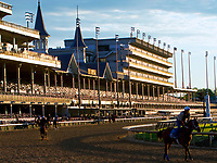 LOUISVILLE,KNY - MAY 03:Morning works for Kentucky Derby & Kentucky Oaks at Churchill Downs, Louisville, Kentucky. (Photo by Sue Kawczynski/Eclipse Sportswire/Getty Images)