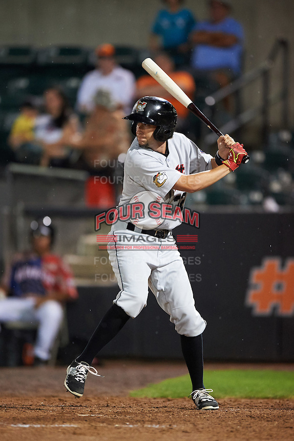 Tri-City ValleyCats Keach Ballard (32) at bat during a game against the Aberdeen Ironbirds on August 6, 2015 at Ripken Stadium in Aberdeen, Maryland.  Tri-City defeated Aberdeen 5-0 in a combined no-hitter.  (Mike Janes/Four Seam Images)