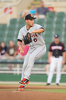 Delmarva Shorebirds relief pitcher Austin Urban (6) in action against the Kannapolis Intimidators at CMC-NorthEast Stadium on July 2, 2014 in Kannapolis, North Carolina.  The Intimidators defeated the Shorebirds 6-4. (Brian Westerholt/Four Seam Images)