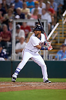 Minnesota Twins left fielder Eddie Rosario (20) at bat during a Spring Training game against the Boston Red Sox on March 16, 2016 at Hammond Stadium in Fort Myers, Florida.  Minnesota defeated Boston 9-4.  (Mike Janes/Four Seam Images)