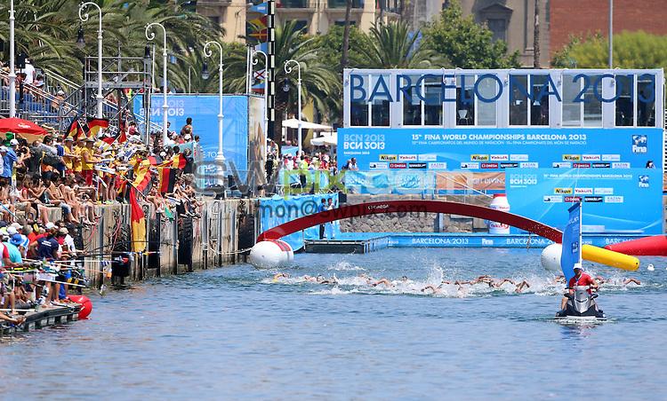 PICTURE BY VAUGHN RIDLEY/SWPIX.COM - Open Water - 15th FINA World Championships 2013 - Moll de la Fusta, Barcelona, Spain - 20/07/13 - GV, General View.