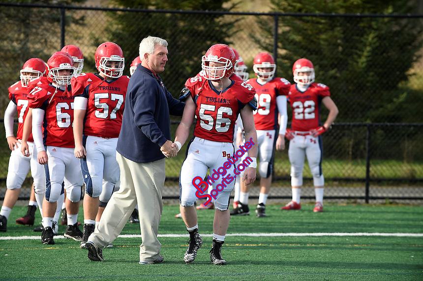November 26, 2015: Game action from the 2015 Cape Cod Bowl Brockton vs Bridgewater-Raynham held at Bridgewater-Raynham High School in Bridgewater, Mass.