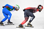 Charles Hamelin (CAN, 8) and Yuri Confortola (ITA). Short track. Gangneung ice arena. Pyeongchang2018 winter Olympics. Gangneung. Republic of Korea. 10/02/2018. ~ MANDATORY CREDIT Garry Bowden/SIPPA - NO UNAUTHORISED USE - +44 7837 394578