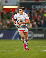 Saturday 7th December 2019 | Ulster Rugby vs Harlequins<br /> <br /> Jacob Stockdale during the Heineken Champions Cup Round 3 clash in Pool 3, between Ulster Rugby and Harlequins at Kingspan Stadium, Ravenhill Park, Belfast, Northern Ireland. Photo by John Dickson / DICKSONDIGITAL
