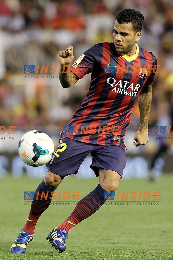 FC Barcelona's Daniel Alves during La Liga match.September 1,2013. (ALTERPHOTOS/Acero) <br /> Football Calcio 2013/2014<br /> La Liga Spagna<br /> Foto Alterphotos / Insidefoto <br /> ITALY ONLY