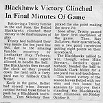 Bethel Park Blackhawks vs Trinity Hillers - 1970.  Another tough fought game with a very good Trinity team. During this time, 1969-1971, in Western PA, the Western Conference had the best overall teams from top to bottom. <br />
