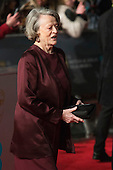 London, UK. 14 February 2016. Dame Maggie Smith. Red carpet arrivals for the 69th EE British Academy Film Awards, BAFTAs, at the Royal Opera House. © Vibrant Pictures/Alamy Live News