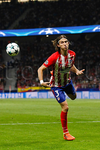 27th September 2017, Wanda Metropolitano, Madrid, Spain; UEFA Champions League, Atletico Madrid versus Chelsea; Filipe Luis Kasmirski (3) Atletico de Madrid