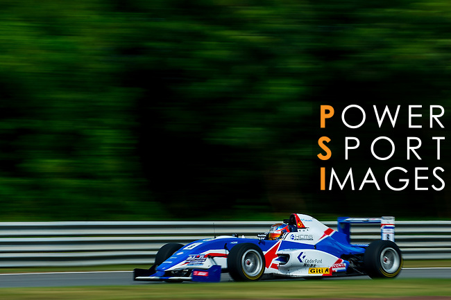 Jeffrey Ye of China and Cebu Pacific Air by KCMG drives during the Formula Masters China Series as part of the 2015 Pan Delta Super Racing Festival at Zhuhai International Circuit on September 20, 2015 in Zhuhai, China.  Photo by Aitor Alcalde/Power Sport Images