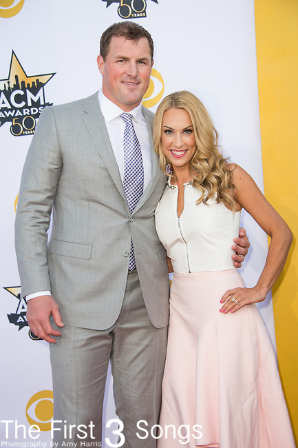 Jason Witten and Michelle Witten attend the 50th Academy Of Country Music Awards at AT&T Stadium on April 19, 2015 in Arlington, Texas.