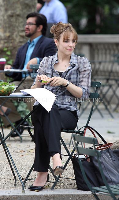 WWW.ACEPIXS.COM . . . . .  ....June 28 2009, New York City....Actress Rachel McAdams on the Bryant Park set of the new movie 'Morning Glory' on June 28 2009 in New York City....Please byline: AJ Sokalner - ACEPIXS.COM..... *** ***..Ace Pictures, Inc:  ..tel: (212) 243 8787..e-mail: info@acepixs.com..web: http://www.acepixs.com