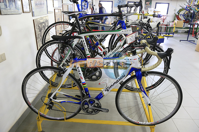 Bikes for sale on display in the showroom at the Tommasini factory based in Grosseto, Tuscany, Italy 6th March 2017.<br /> Picture: Eoin Clarke | Newsfile<br /> <br /> <br /> All photos usage must carry mandatory copyright credit (© Newsfile | Eoin Clarke)