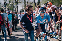 Mikel Landa (ESP/Movistar) post-race<br /> <br /> 82nd Fl&egrave;che Wallonne 2018 (1.UWT)<br /> 1 Day Race: Seraing - Huy (198km)