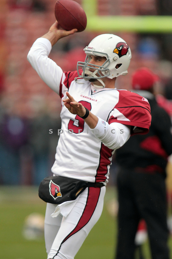 DEREK ANDERSON, of the Arizona Cardinals in action durIng the Cardinals game against the San Francisco 49ers at Candlestick Park on January 2, 2011 in San Fransisco, California.. .49ers beat the Cardinals 38-7