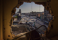 MISRATA, LIBYA &mdash; <br /> <br /> Signs of heavy clashes during the 2011 uprising are evident on most of the buildings located on Tripoli street, Misrata's main avenue. Despite it's proximity to Sirte, ISIS's main area of control, Misrata is one of the most stable cities in the country and signs of normal life are slowly returning.