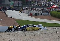 Apr. 7, 2013; Las Vegas, NV, USA: NHRA pro stock driver Rodger Brogdon during the Summitracing.com Nationals at the Strip at Las Vegas Motor Speedway. Mandatory Credit: Mark J. Rebilas-