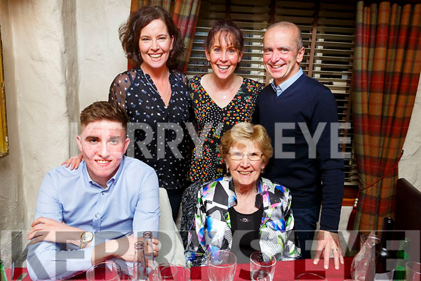 Joe Slattery from Ballard celebrating his 21st birthday in Cassidys on Saturday night.<br /> Seated l to r: Joe Slattery and Bridie O'Sullivan.<br /> Standing l to r: Mags and Barbara O'Sullivan and John Kennealy.